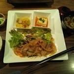 銀座2丁目ミタスカフェ - 日替わりランチ(しょうが焼き)