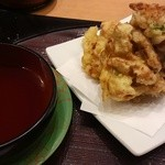廻鮮寿司 かねき  - 海鮮かき揚げ