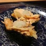 廻鮮寿司 かねき  - とろサーモン軍艦
