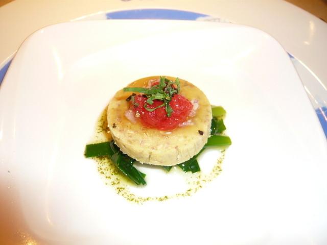 ル・ジャルダン・デ・サヴール - イワシとジャガイモのガレット サフラン風味