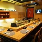 都寿司 - カウンター席