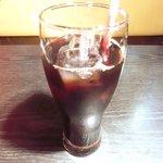 だるま - <'14/11/05撮影>ラム焼肉定食 972円 のアイスコーヒー