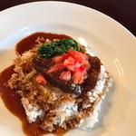 32470840 - 豚ほほ肉の赤ワイン煮込みハヤシライス風。
