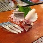 千代鮨 - 〆鯖、鯵、小鰭、墨烏賊をつまみで