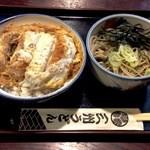 三州うどん - 2014/11/0X かつ丼セット 冷ぶっかけそば¥1000