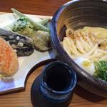 32487225 - 野菜の天ぷらぶっかけおうどん