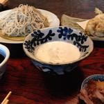 萱 - 辛みそば+天ぷら