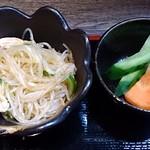 東京ポーク神社 - 東京ポ~ク神社 本店 @西葛西 しょうが焼定食に付く春雨サラダと漬物