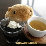 眺めのいいカフェ パ・ノ・ラ・マ - コーヒーゼリーとお茶