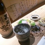ぼっか - [晩酌セット] ドリンク一杯に小鉢2つ、刺身が付きます