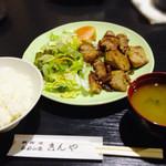 きんや - まぐろの生姜焼き定食 700円 (日替わり価格)