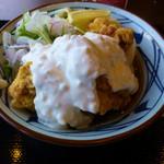 丸亀製麺 - タル鶏天ぶっかけ(冷)の大盛