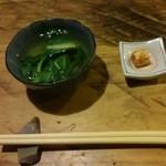 とんかつ青柳 - 料理写真:小松菜とチーズ