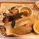 割烹 しまもと - 焼き物(あん肝・ぶりの照り焼き・牡蠣)