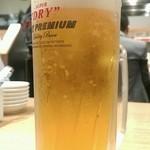 博多 一風堂 飯田橋サクラテラス店 - 生ビール(500円)