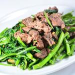 空心菜と牛肉炒め