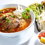★スープ麺★ ピリ辛牛煮込みスープ麺