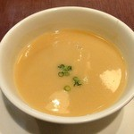 アップルサイダー - 豚しょうが焼ランチ ¥980(税込) 本日のスープ