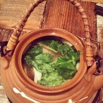 トリ風土レストラン the Open - 松茸の土瓶蒸し。トリと海と山と
