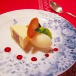 レストラン クララ - (2014.10月)2種のチョコムース、洋梨のシャーベット
