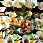 うるる - 『秋光コース』料理12品 4,000円(飲み放題付 5,500円)