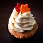 ロンドン カップケーキ - 秋限定メープル味のカップケーキ