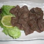 牙山 - 天肉のニンニク炒め