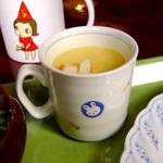 32524596 - マグカップがラブリーなコーンスープ