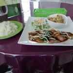 琥珀 - 豚肉のチリマヨソース