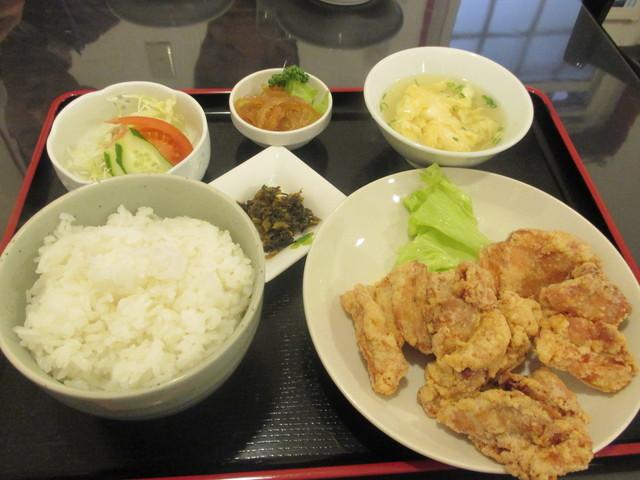 中華飯店 ながさこ - 唐揚げ定食(水曜日の日替わり定食)