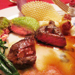レストラン クララ - (2014.10月)仔牛フィレ肉と仔羊ロース肉。並外れた美味しさ