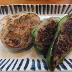 世渡 - レンコンとピーマン焼です☆今治ならではの味わいです☆2014-1111訪問