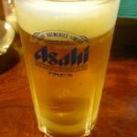五味鳥 - 生ビール中一杯目