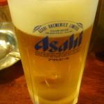 五味鳥 - 生ビール中二杯目