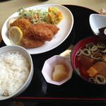 元禄鮨 - カキフライ&海老カツ定食