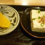 そば元 - 日替り定食(とうふ、沢庵)