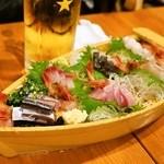 魚猫 - 2014.11 おまかせ刺盛 5点盛(980円)