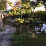 ホリデー - テラス席から見たお庭