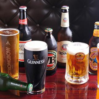 世界のビール!各種こだわってご用意しております
