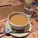 薬膳スープカレー・シャナイア - ホットコーヒー、砂糖ミルク入れた後