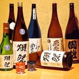 厳選日本酒が勢ぞろい!