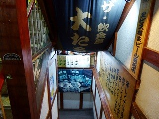 居酒屋 大たる - 階段を地下に降ります