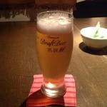 酒膳屋 古燈 - ドリンク写真:アサヒプレミアム生ビール 熟撰