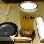 九州黒太鼓 - 生ビール:490円(税別)