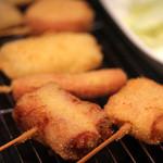 串カツ ゑびす - ベーコンチーズ、ウインナー、烏賊、うずら、鶏モモ
