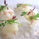 マンジャ ペッシェ - 料理写真:もはや鮮魚のカルパッチョとは言えない前菜