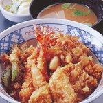 天音 - 上天丼 なめこ汁 御新香 2009/5