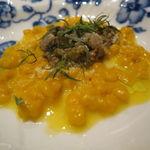 32560057 - 南瓜のスパッツェレ、鰯と茴香の煮込みのソース2