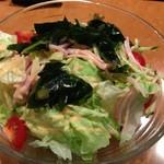 四季彩 - ラーメンサラダ、野菜たっぷりだけど麺は少ない