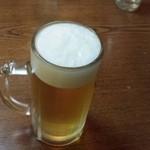 つぶ焼 かど屋 - ビールで乾杯